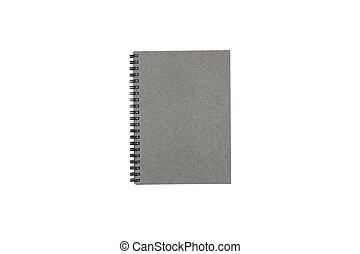 Notebook isolated on white background.