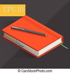 notebook isometric vector illustration