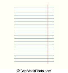 notebook lined paper sheet background- vector illustration