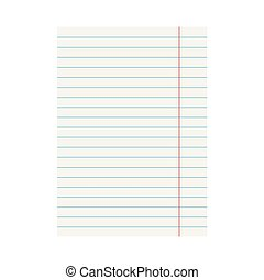 notebook lined paper sheet- vector illustration