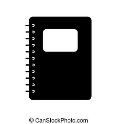 Notebook logo. Vector icon on white background
