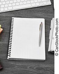 Notebook on office desk