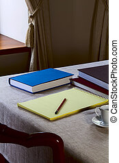 Notebook on the table
