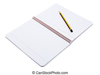 notebook open and pencil 1