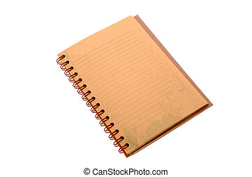 Notebook - Open Field Notes notebook isolated over white