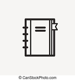notebook outline icon