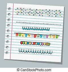 notebook paper borders child drawings