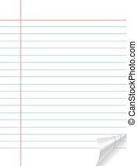 Empty notebook paper having line and red rule