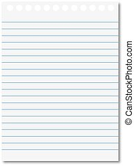 Notebook paper - Striped sheet to annotate