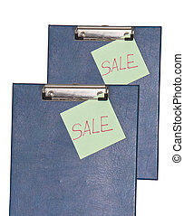 Notebook paper on a clip board.