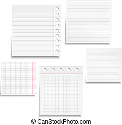 Notebook Paper - Set of different notebook paper, vector...