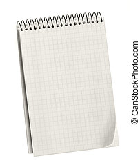 Notebook. Paper sheets in a cell on a spiral