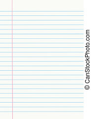 Notebook paper - Vector notebook paper
