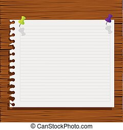 notebook paper with wood background icon