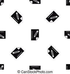 Notebook pattern seamless black