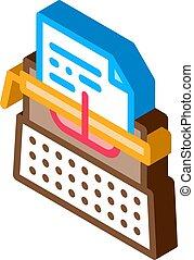 Notebook Pen isometric icon vector illustration