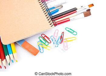 Notebook & pencils