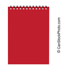 Notebook red cover for your design