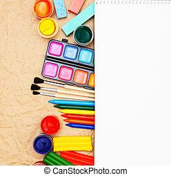 Notebook, school accessories.