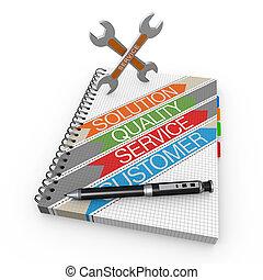 Notebook service concept