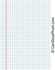 notebook sheet vector