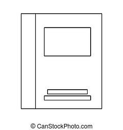 notebook simple line , vector illustration