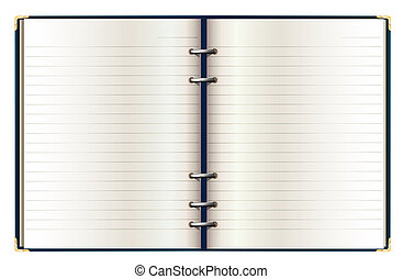 notebook - drawing of open notebook in a white background