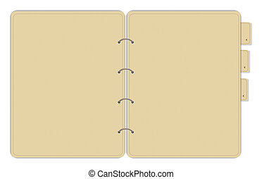 notebook - drawing of brown notebook in a white background