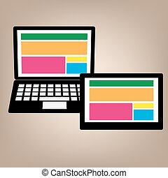 notebook tablet web design