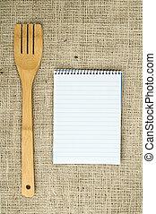 Notebook to write recipes