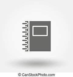 Notebook. Vector icon.