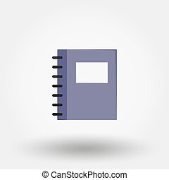 Notebook. Vector icon.