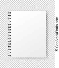 Notebook vector mockup. Vector object isolated on ...