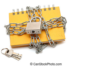 Notebook with a chain