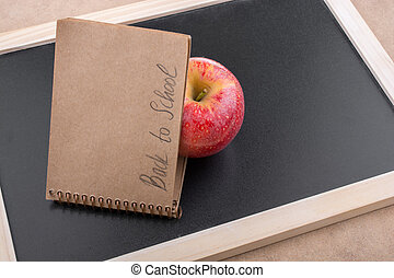 Notebook with back to school lettering
