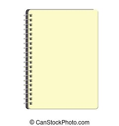 Notebook With Blank Page vector