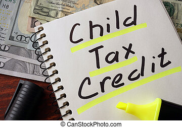 Notebook with child tax credit