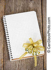 Notebook with christmas decoration