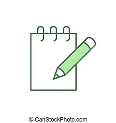 Notebook with pencil icon