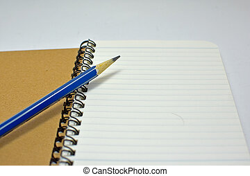 Notebook with pencil
