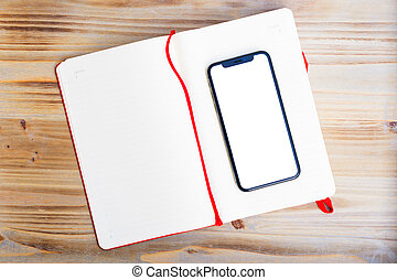 Notebook with phone