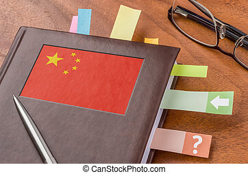 Notebook with the flag of China
