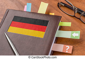 Notebook with the flag of Germany