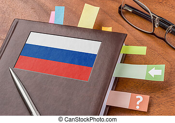 Notebook with the flag of Russia