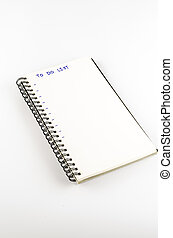 notebook write to do list word