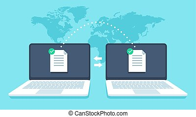 Notebooks file transfer. Data transmission, ftp files...