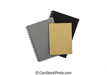 Notebooks isolated on white background.