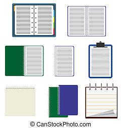notebooks., sæt