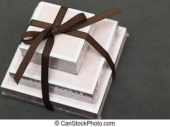 notelet gift - a gift of different size notelets tied with a...