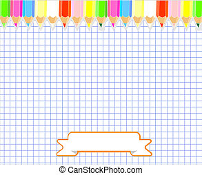 Notepad blank page vector illustration.